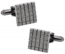 Hematite Grids Cufflinks