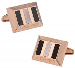 Heritage Rose Gold Onyx MOP Cufflinks