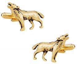 Howling Wolf Gold Cufflinks