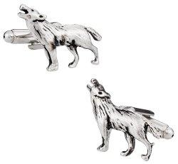 Howling Wolf Silver Cufflinks
