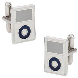 MP3 Cufflinks in White