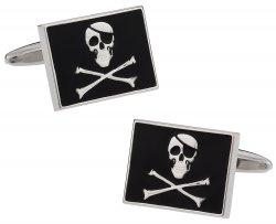 Jolly Rodger Flag Skull Cufflinks