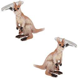 Kangaroo Cufflinks Hand Painted