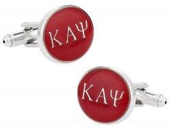 Kappa Alpha Psi Red Silver Fraternity Cufflinks