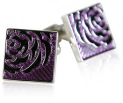 Lavendar Rose Cufflinks