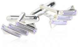 Lavender Sterling Silver Cufflinks