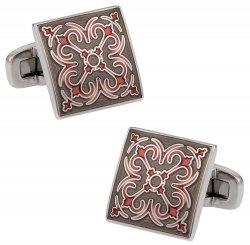 Layered Enamel Cufflinks