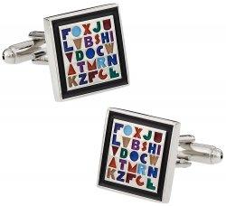 Alphabet Cufflinks for Teacher