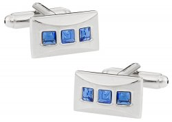 Linear Blue Cufflinks