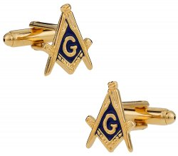 Men's Masonic Cufflinks in Gold - Made in USA