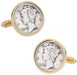 Mercury Dime Cufflinks for Men