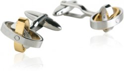 Movable Stainless Steel Oval Cufflinks