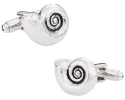 Beach Lover Nautilus Shell Cufflinks