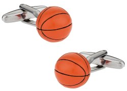 Orange Basketball 3D cufflinks