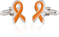 Orange Ribbon Cufflinks