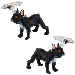 Painted French Bulldog Cufflinks