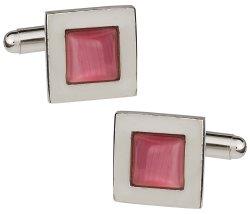 Pink Fiber Optic Cufflinks