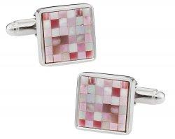 Pink MOP Mosaic Cufflinks