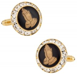 Praying Hands Religious Cufflinks