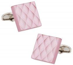 Quilted Metallic Pink Cufflinks