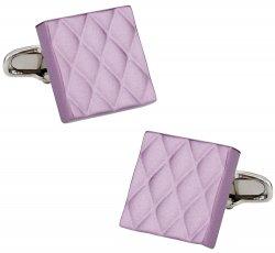 Quilted Metallic Purple Cufflinks