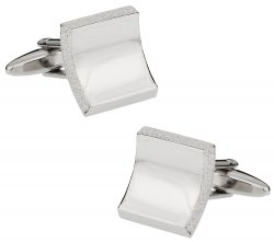 Raw Edge Silver Cufflinks