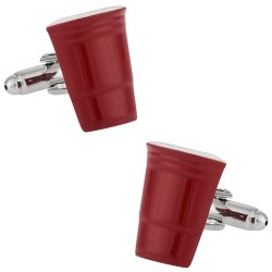 Red Party Cup College Beer Drinking Cufflinks