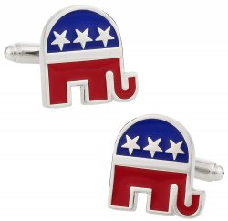 Republican GOP Elephant Cufflinks