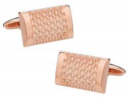 Rose Gold Weave Cufflinks