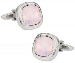 Rose Water Opal Crystal Cufflinks