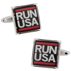 Runner Gift Idea - Run USA Cufflinks