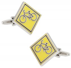 Cycling Cufflinks for Cyclists - Share the Road