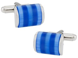 Shimmering Blue Cufflinks