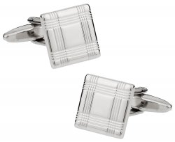 Square Lined Cufflinks