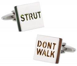Strut Don't Walk Cufflinks