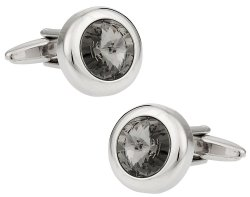 Swarovski Black Diamond Crystal Cufflinks