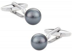 Swarovski Crystal Black Pearl Cufflinks