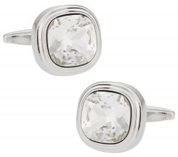 Swarovski Crystal Clear Cufflinks