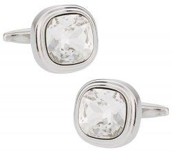 Swarovski Crystal Clear Cufflinks