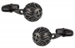 Swarovski Gunmetal Caged Pearl Cufflinks in Black