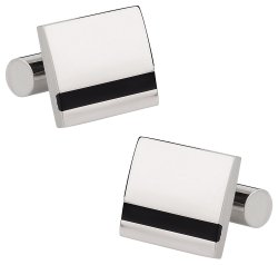 Titanium Stripe Cufflinks