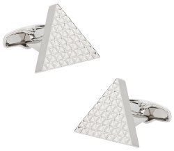 Triangle Cufflinks in Silvertone