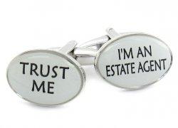 Trust Me Estate Agent Cufflinks