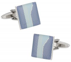 Unique Blue Print Cufflinks
