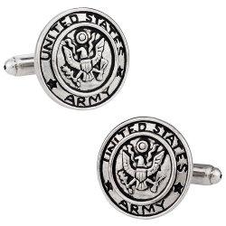 US Army Cufflinks Silver
