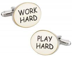Work Hard Play Hard Cufflinks