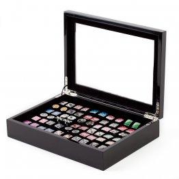 Black Cufflinks Rings Storage Box Case (Holds 36 pairs)