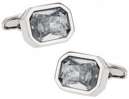 Austrian Clear Crystal Cufflinks