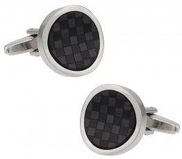 Black Fiber Optic Wave Cufflinks