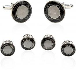 Black Pearl Sterling Set for Men